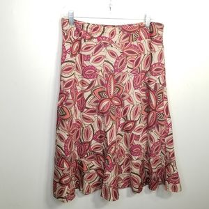 EUC East 5th abstract print skirt size 10